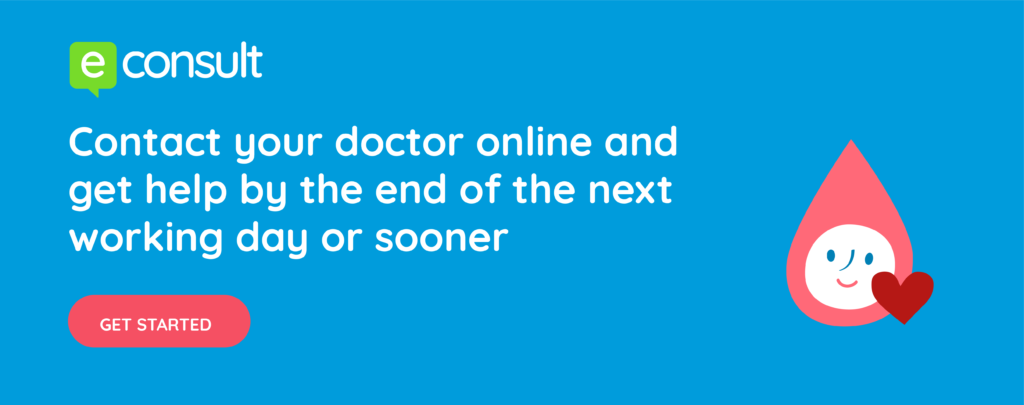"""Contact your doctor online and get help by the end of the next working day or sooner."""
